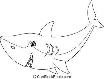 サメ, 着色, ページ