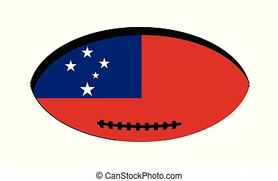 サモア, 旗, ボール, ラグビー