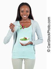サラダ, 女性の 食べること, 若い