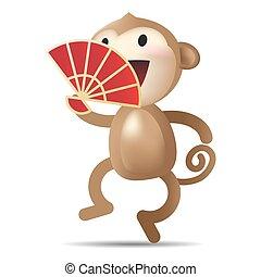 サル, 漢字, ベクトル, 年, 新しい