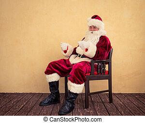 サンタクロース, ドライブしなさい, 想像, sleigh