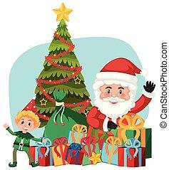 サンタクロース, 妖精, 贈り物, ヘルパー