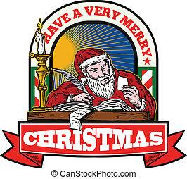 サンタクロース, 父, 執筆文字, クリスマス