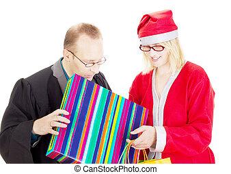サンタクロース, 贈り物, 弁護士, 得ること