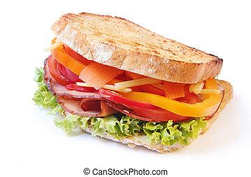 サンドイッチ, ハム