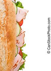 サンドイッチ, 白, トルコ, 上, 隔離された, 光景