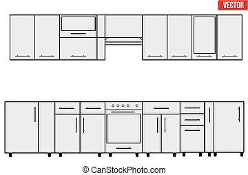 サンプル, モジュール式である, objects., 台所