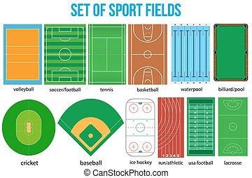 サンプル, 人気が高い, fields., スポーツ, セット, ほとんど