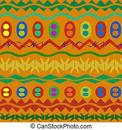 サンプル, 装飾, アフリカ, 数字, 幾何学的