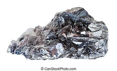 サンプル, hematite, 隔離された, ore), 石, (iron