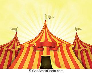 サーカスの大テント, サーカス, 旗, 背景