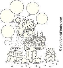 サーカスピエロ, バースデーケーキ