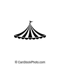 サーカス, ロゴ, テント, テンプレート
