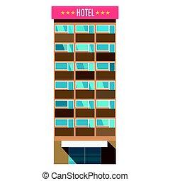サービス, アパート, 部屋, ビジネス, ホテル, 休暇, イラスト, リゾート, ベクトル, 建築