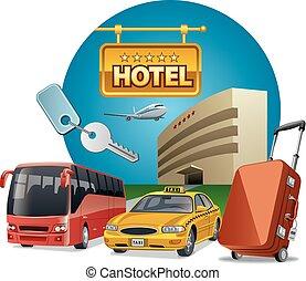 サービス, ホテル, 輸送