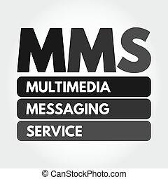 サービス, メッセージ, 頭字語, マルチメディア, -, mms