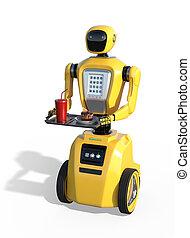 サービス, ロボット, server:, 未来, 食物
