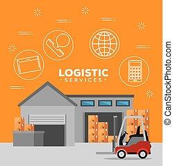 サービス, 倉庫, 建物, ロジスティックである