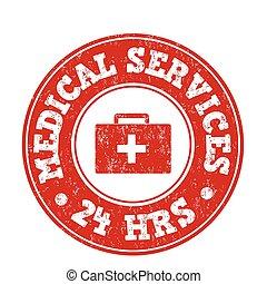 サービス, 切手, 医学