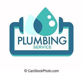 サービス, 固定, 隔離された, アイコン, leakage, パイプライン, 配管, 修理