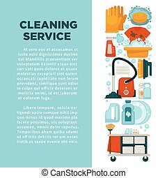 サービス, 家, 昇進, 大きい, 清掃, テキスト, 旗