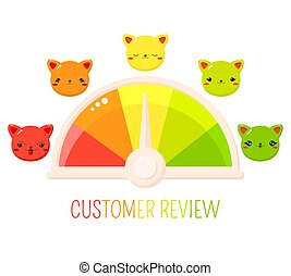 サービス, 微笑, 形態, かわいい, 評価, ネコ, 顧客
