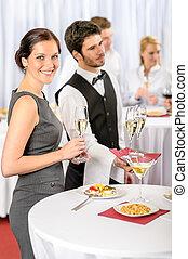 サービス, 提供, 会社, ケータリング, シャンペン, でき事