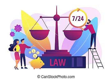 サービス, 概念, イラスト, ベクトル, 法的