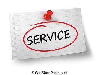 サービス, 概念, 隔離された, イラスト, 3d