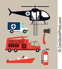 サービス, 緊急事態, デザイン