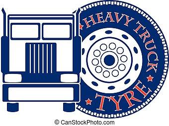 サービス, 自動車, イラスト, ベクトル, デザイン, トラック, hevy