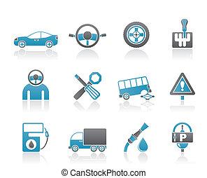 サービス, 自動車, 交通機関
