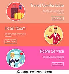 サービス, 願い, 旅行, ホテル, 快適である