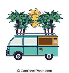 サーフィンをしなさい, 型, 浜, バン, 漫画