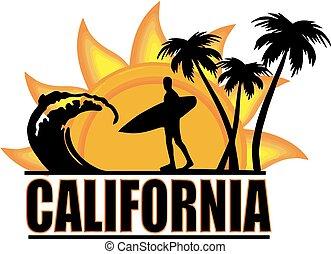 サーフィンをしなさい, 太陽, デザイン, ワイシャツ, カリフォルニア