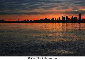 シアトルのスカイライン, ∥において∥, 夜明け