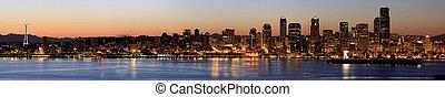 シアトルのスカイライン, ∥において∥, 夜明け, 前方へ, puget 音