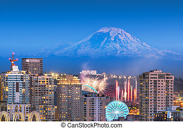 シアトル, mt 。, ワシントン, アメリカ, より雨が多い