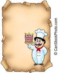 シェフ, ケーキ, 羊皮紙, 保有物