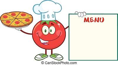 シェフ, 保有物, トマト, ピザ