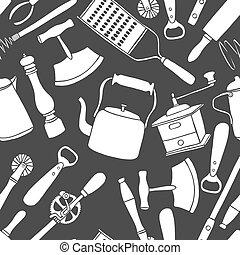 シェフ, 型, 道具, パターン