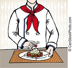 シェフ, 寿司, 準備