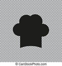 シェフ, 帽子, ベクトル, アイコン