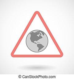 シグナル, 地域, 警告, 世界, アメリカ, 地球, アイコン