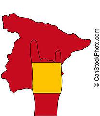 シグナル, 指, スペイン語