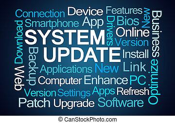 システム, 更新, 単語, 雲