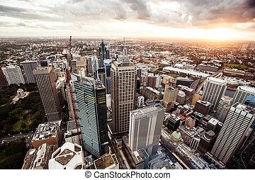シドニー, オーストラリア, ダウンタウンに
