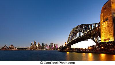 シドニー 港, 夕闇