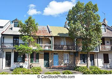 シドニー, victorian, 家, 壇にされた, オーストラリア
