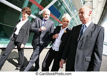 シニア, グループ, businesspeople